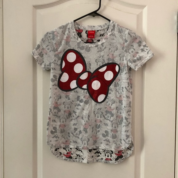 e43bbddd Disney Shirts & Tops | Girls Mickey Minnie Mouse Shirt Sz L 447 ...